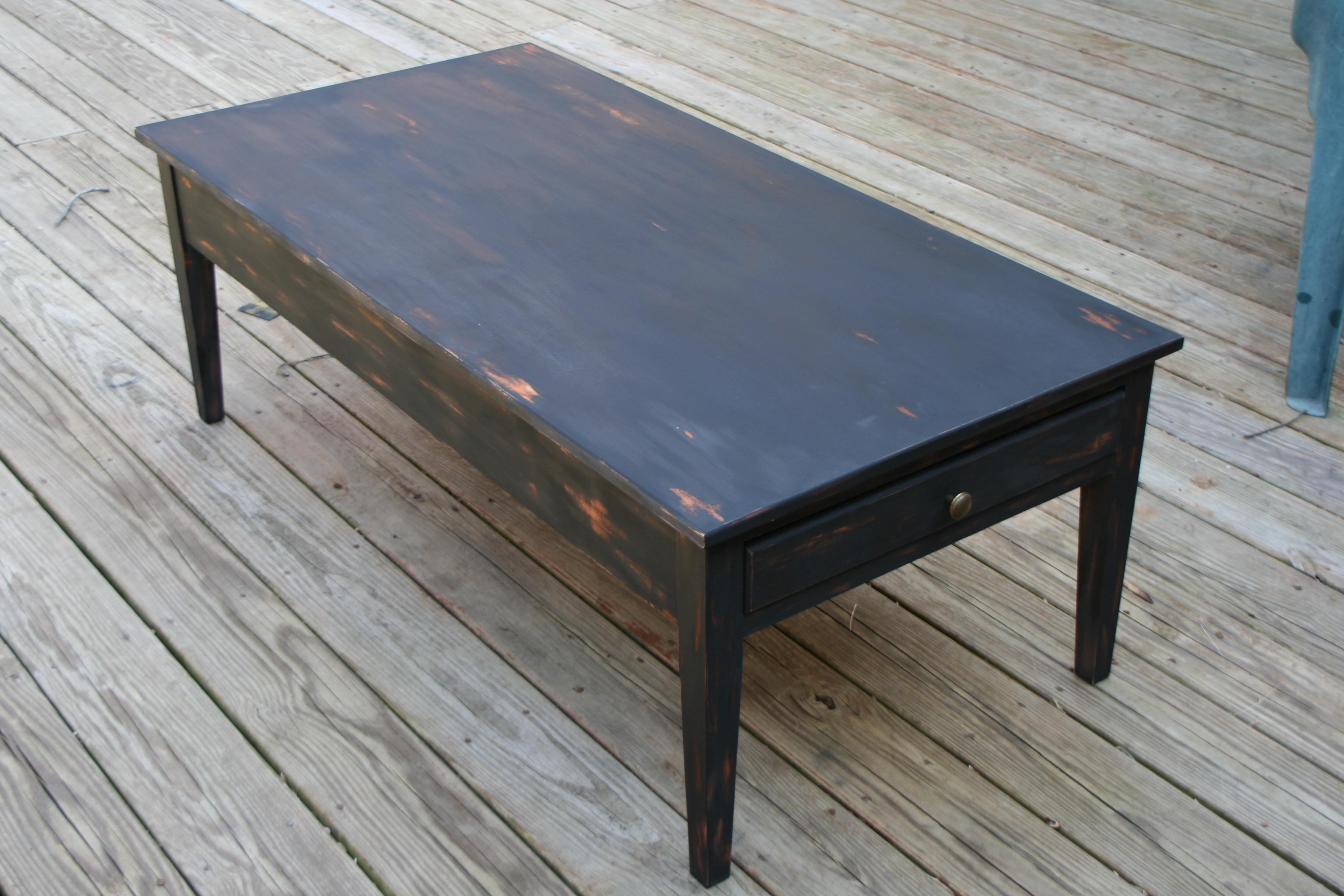 Rustic Black Coffee Table (SOLD)